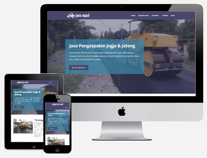 demo jasa pembuatan website bisnis jasa pengaspalan
