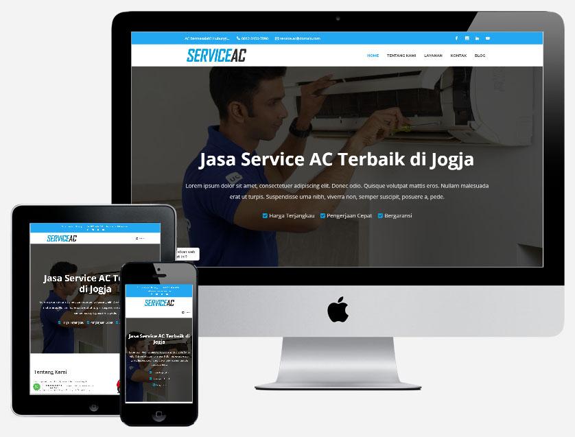 Template untuk jasa pembuatan website service ac