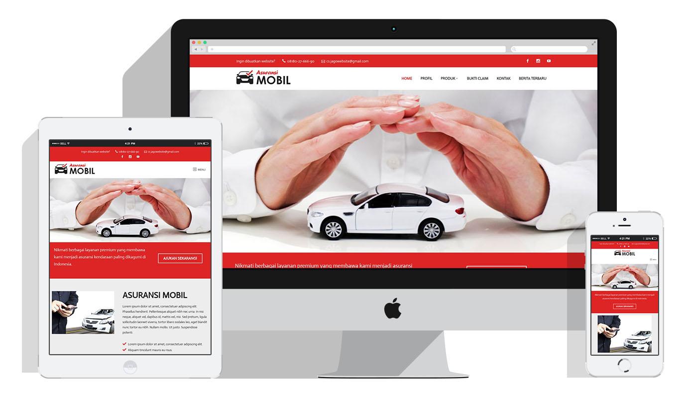 Jasa Pembuatan Website Agen Asuransi Mobil Kendaraan Jasa Pembuatan Website