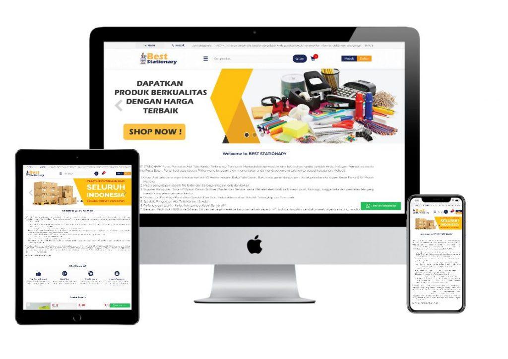 jasa pembuatan toko online stationary
